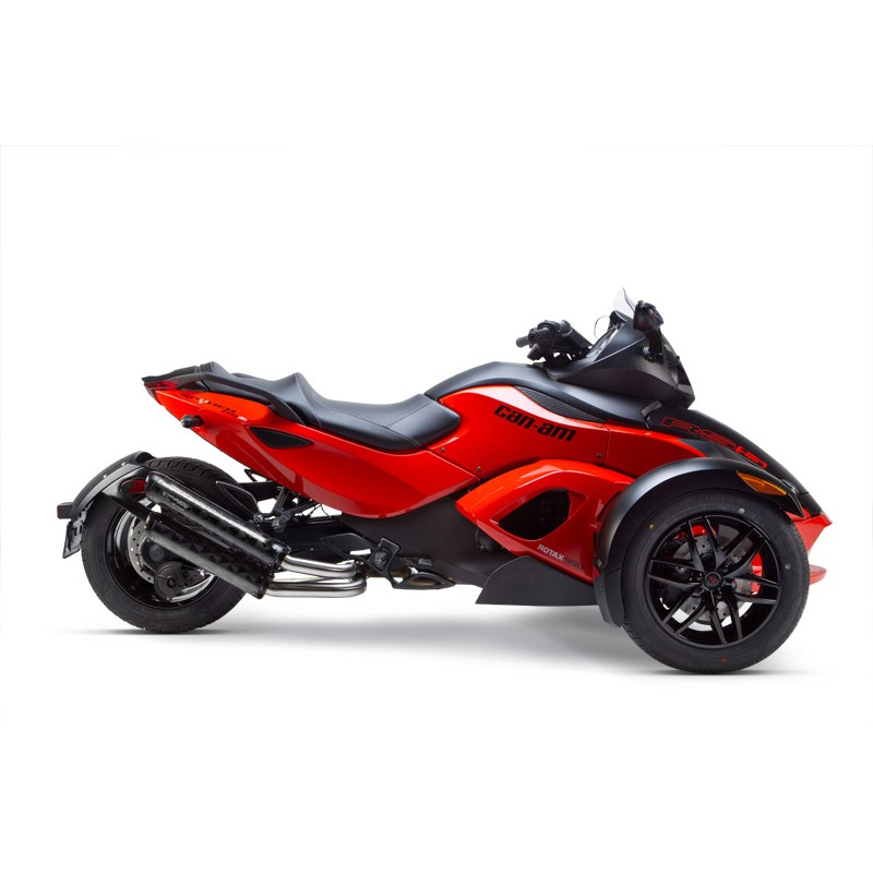dual exhaust m2 aluminium can am spyder twobros. Black Bedroom Furniture Sets. Home Design Ideas