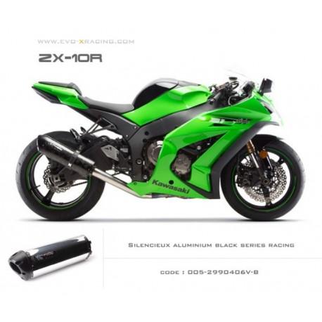 Echappement M2 en aluminium option black séries Kawasaki ZX 10 R
