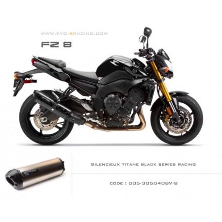 Echappement M2 en titane option black séries Yamaha fz8