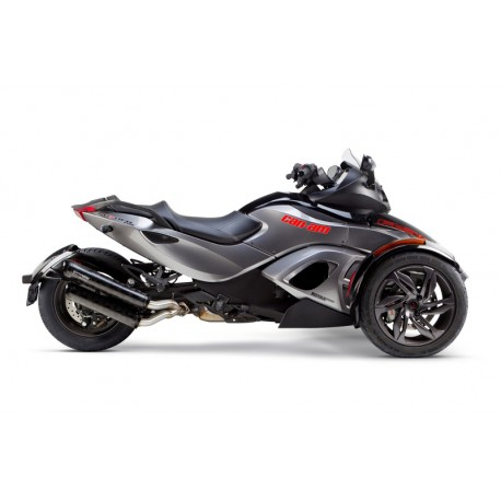DUAL EXHAUST M2 CARBONE OPTION BLACK SERIES CAN AM SPYDER RT RS