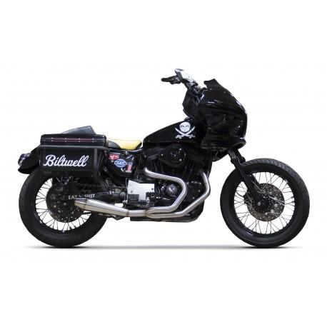 Ligne complète échappement en carbone Harley Davidson sportster
