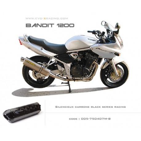SILENCIEUX CARBONE BLACK SERIES TWO BROS SUZUKI BANDIT 1200 / S