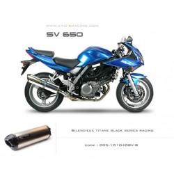Echappement M2 en titane option black séries Suzuki SV650