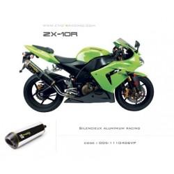 Echappement M2 en aluminium poli Kawasaki ZX 10 R