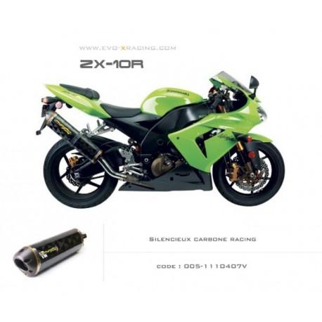 Echappement M2 en carbone Kawasaki ZX 10 R