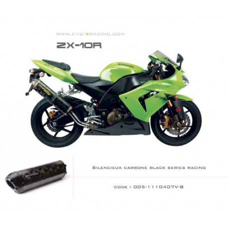 Echappement M2 en carbone option black séries Kawasaki ZX 10 R