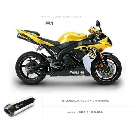 Double échappement M2 en aluminium Yamaha R1
