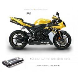 Echappement M2 en aluminium option black séries Yamaha R1