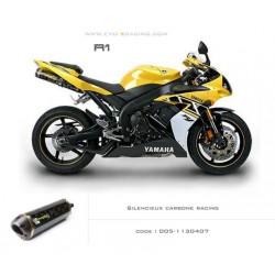 Double échappement M2 en carbone Yamaha R1