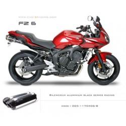 Double échappement M2 en aluminium option black séries Yamaha fz6
