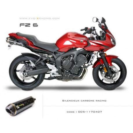 Double échappement M2 en carbone Yamaha fz6