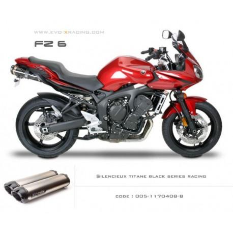 Double échappement M2 en titane option black séries Yamaha fz6