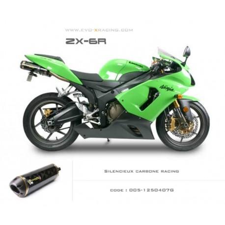 Echappement M2 en carbone Kawasaki ZX6R