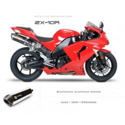 Double échappement M2 en aluminium Kawasaki ZX 10 R