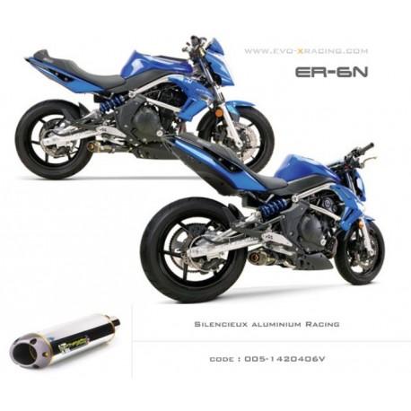 Echappement M2 en aluminium Kawasaki ER6 Versys Ninja