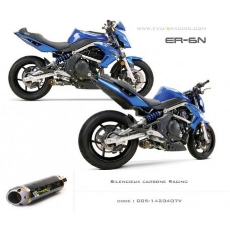 Ligne complète échappement M2 en carbone Kawasaki ER6 Versys Ninja