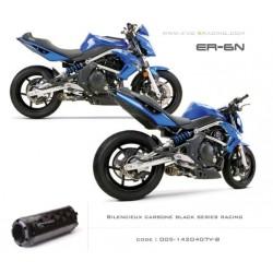 Ligne complète échappement M2 en carbone option black séries Kawasaki ER6 Versys Ninja