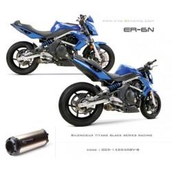 Ligne complète échappement M2 en titane option black séries Kawasaki ER6 Versys Ninja