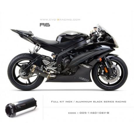 Ligne complète échappement M2 en aluminium option black séries Yamaha R6