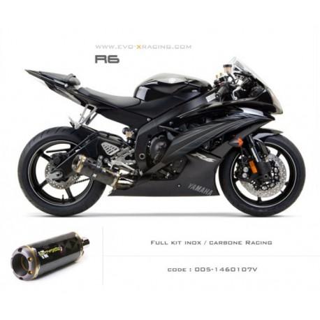 Ligne complète échappement M2 en carbone Yamaha R6