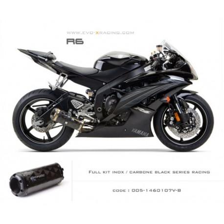 Ligne complète échappement M2 en carbone option black séries Yamaha R6