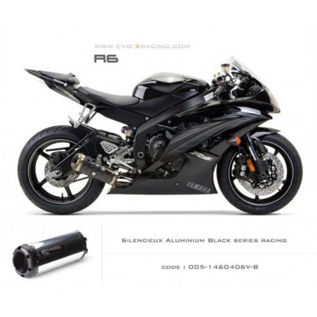 Echappement M2 en aluminium option black séries Yamaha R6