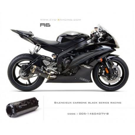 Echappement M2 en carbone option black séries Yamaha R6
