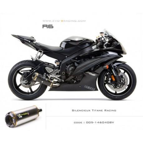 Echappement M2 en titane Yamaha R6