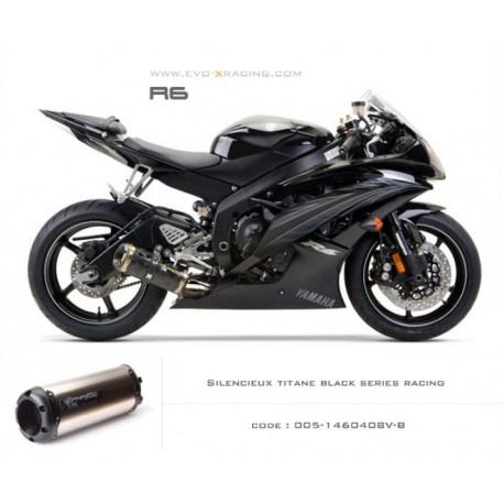 Echappement M2 en titane option black séries Yamaha R6
