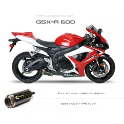 Ligne complète échappement M2 en carbone Suzuki GSXR600 750