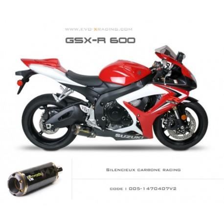 Echappement M2 en carbone Suzuki GSXR600 750
