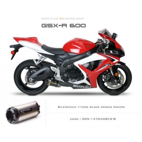 Echappement M2 en titane option black séries Suzuki GSXR600 750