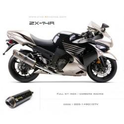 Ligne complète échappement M2 en carbone Kawasaki ZZR1400