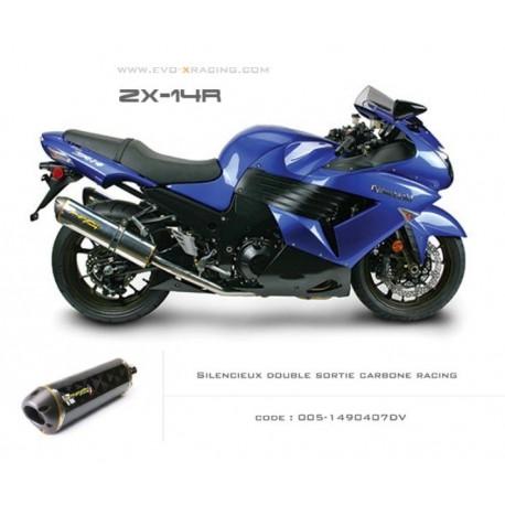 Double échappement M2 en carbone Kawasaki ZZR1400