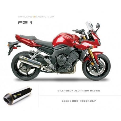 Echappement M2 en aluminium poli Yamaha FZ1