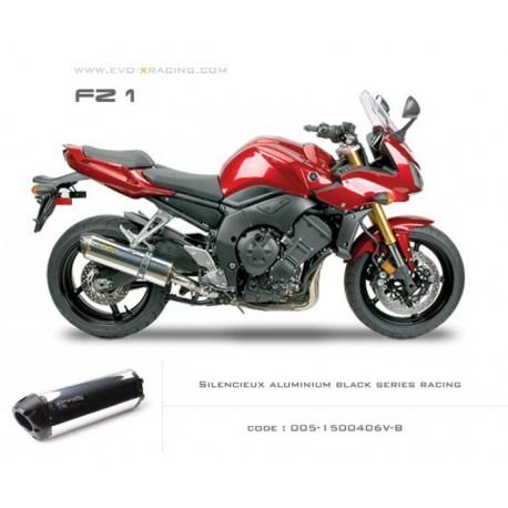 Echappement M2 en aluminium poli option black séries Yamaha FZ1