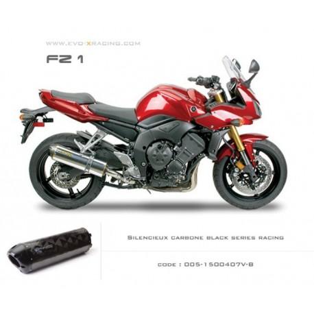 Echappement M2 en carbone option black séries Yamaha FZ1