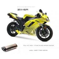 Ligne complète échappement M5 en titane option black séries Kawasaki ZX6R