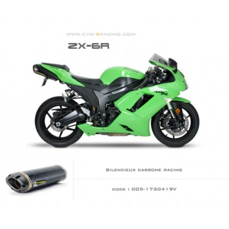 Echappement M5 en carbone Kawasaki ZX6R