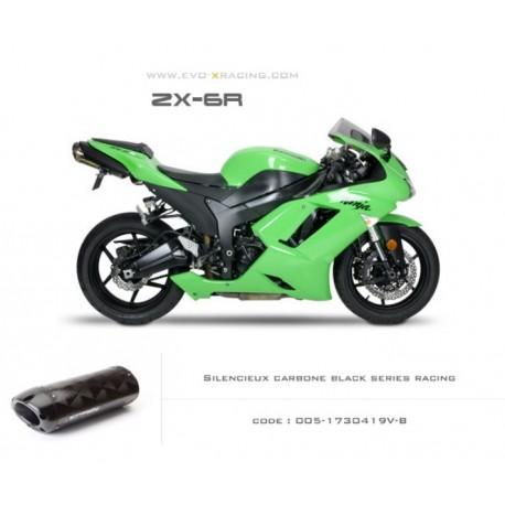Echappement M5 en carbone option black séries Kawasaki ZX6R