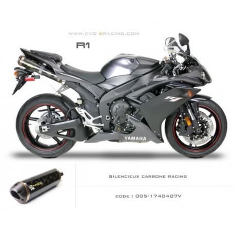 Ligne complète échappement M2 en carbone Yamaha R1