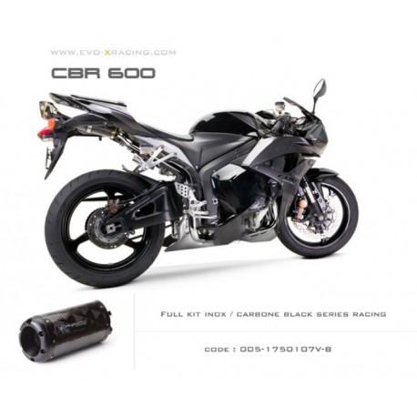 Ligne complète échappement M2 en carbone option black séries Honda CBR600