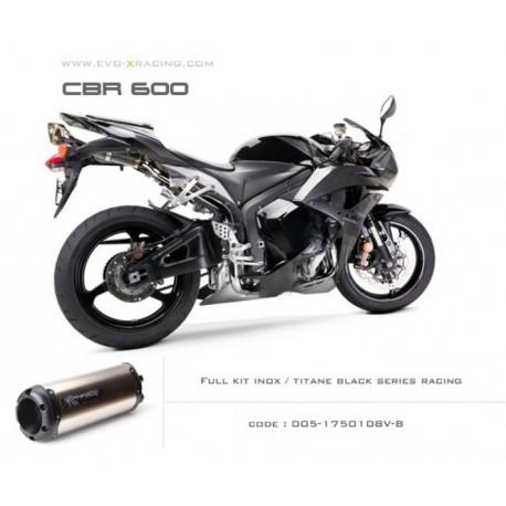 Ligne complète échappement M2 en titane option black séries Honda CBR600