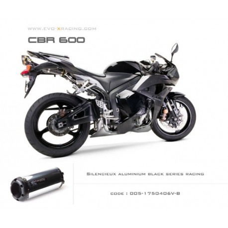 Echappement M2 en aluminium option black séries Honda CBR600