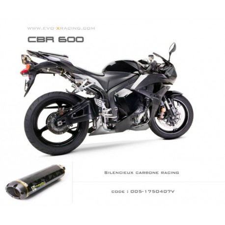 Echappement M2 en carbone Honda CBR600