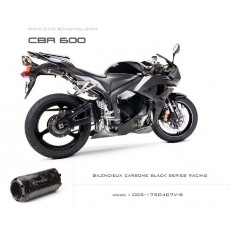 Echappement M2 en carbone option black séries Honda CBR600