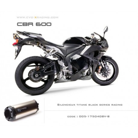 Echappement M2 en titane option black séries Honda CBR600