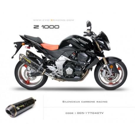 Double échappement M2 en carbone Kawasaki Z1000