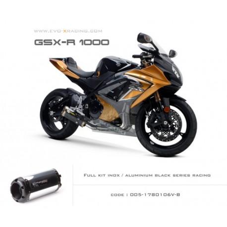 Ligne complète échappement M2 en aluminium option black séries Suzuki GSXR1000