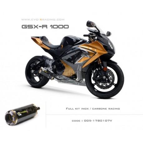 Ligne complète échappement M2 en carbone Suzuki GSXR1000